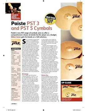 Paiste PST 3 and PST 5 Cymbals