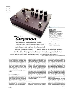 Strymon TimeLine, Delay-Pedal