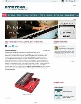 Test: Digitech Whammy 5, Effektpedal