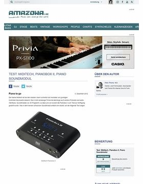 Test: Miditech, Pianobox II, Piano Soundmodul