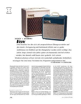 Vox AC4C1 + AC4HW1, Tube-Amps