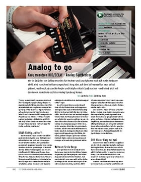 Korg monotron DUO/DELAY – Analog-Synthesizer