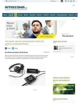 Top News: Native Instruments Traktor Audio 2, Audiointerface