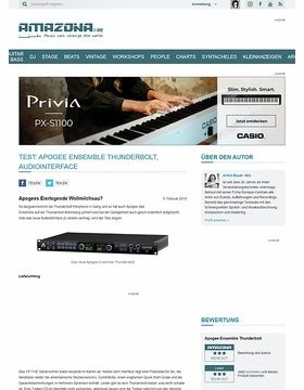 Test: Apogee Ensemble Thunderbolt, Audiointerface