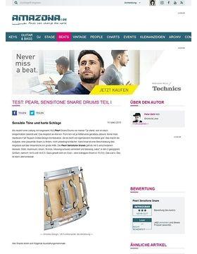Test: Pearl Sensitone Snare Drums Teil I