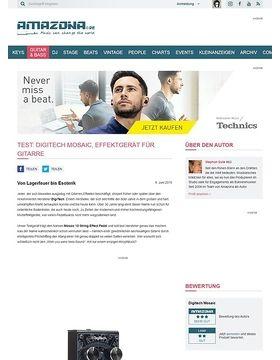 Test: Digitech Mosaic, Effektgerät für Gitarre