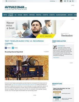 Test: Tegeler Audio Manufaktur VTRC V2, Recording Channel