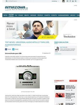 Top News: Universal Audio Apollo Twin USB, Audiointerface