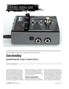 Eventide Mixing Link - Preamp & Stompbox-Interface