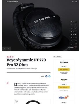 Beyerdynamic DT-770 Pro 32 Ohm