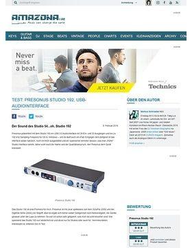 Test: Presonus Studio 192, USB-Audiointerface