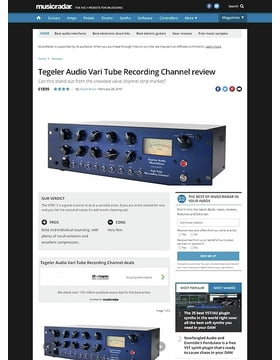 Tegeler Audio Vari Tube Recording Channel