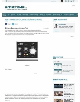 Test: Audient iD4, USB-Audiointerface