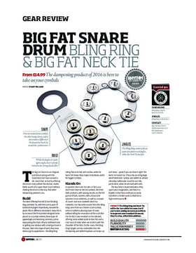 Big Fat Snare Drum Bling Ring & Big Fat Neck Tie