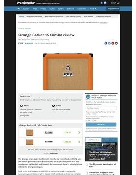 Orange Rocker 15 1X0 Combo