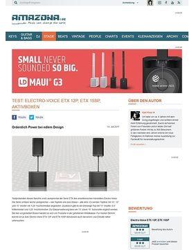 Electro-Voice ETX 12P und ETX 15SP