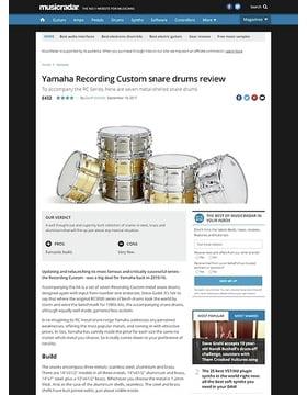 Yamaha Recording Custom snare drums