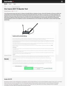 the t.bone IEM 75 Bundle