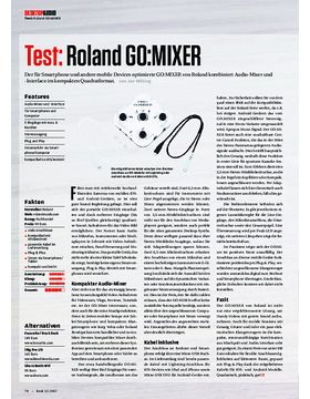 Roland go:mixer, ESI MoCo