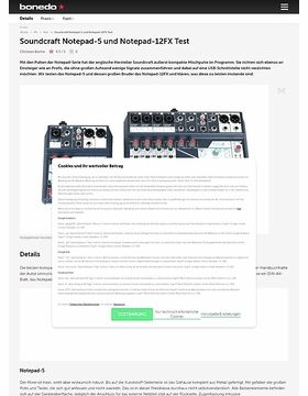 Soundcraft Notepad-5 und Notepad-12FX