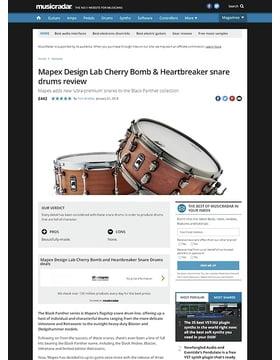 Mapex Design Lab Cherry Bomb & Heartbreaker snare drums