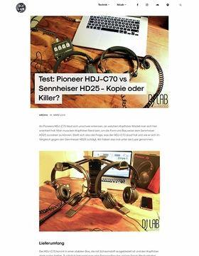 Pioneer HDJ-C70 vs Sennheiser HD25