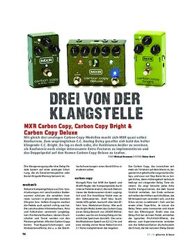 MXR Carbon Copy, Carbon Copy Bright & Carbon Copy Deluxe