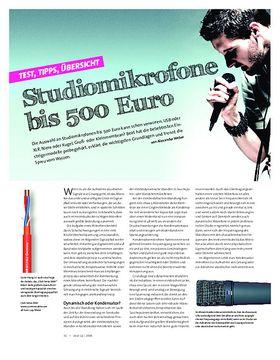 Studiomikrofone bis 500 Euro