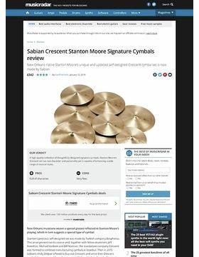 Sabian Crescent Stanton Moore Signature Cymbals