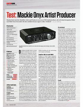 Mackie Onyx Artist Producer