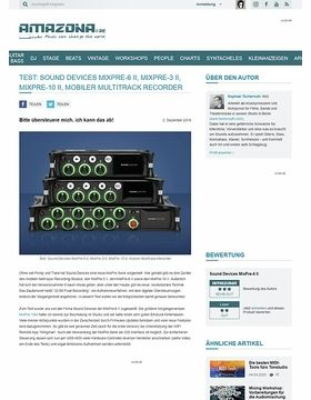 Sound Devices MixPre-6 II, MixPre-3 II und MixPre-10 II