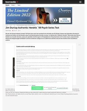 Jim Dunlop Authentic Hendrix ´69 Psych Series