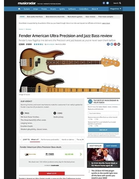 Fender American Ultra Precision and Jazz Bass