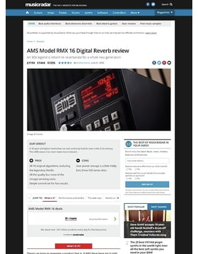 AMS Model RMX 16 Digital Reverb