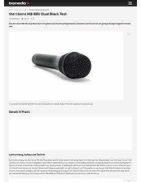 the t.bone MB 88U Dual Black