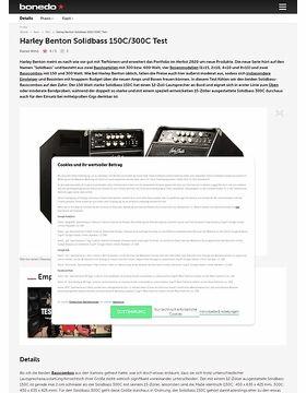 Harley Benton Solidbass 150C/300C