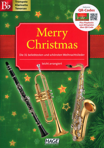 Hage Musikverlag Merry Christmas Bb