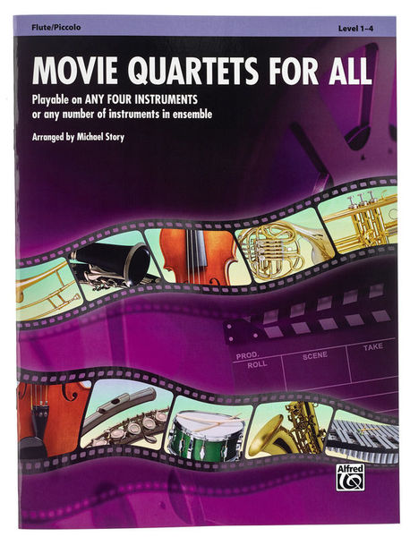 Alfred Music Publishing Movie Quartets for All Flute