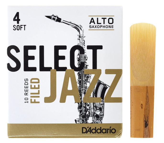 DAddario Woodwinds Select Jazz Filed Alto 4S