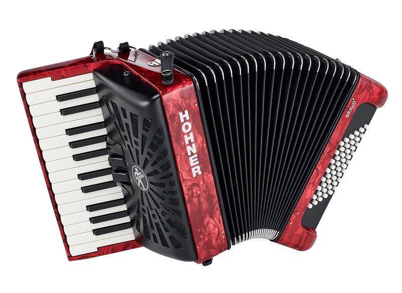 Hohner Bravo II 48 Red silent key