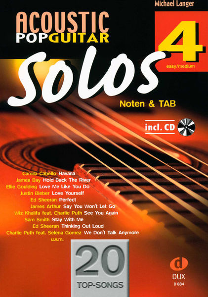 Edition Dux Acoustic Pop Guitar Solos 4