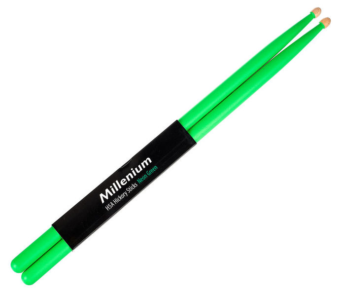 Millenium H5A Hickory Sticks Neon Green
