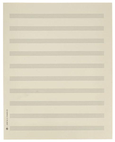 Star Sheet Music Paper Quart 10 mm