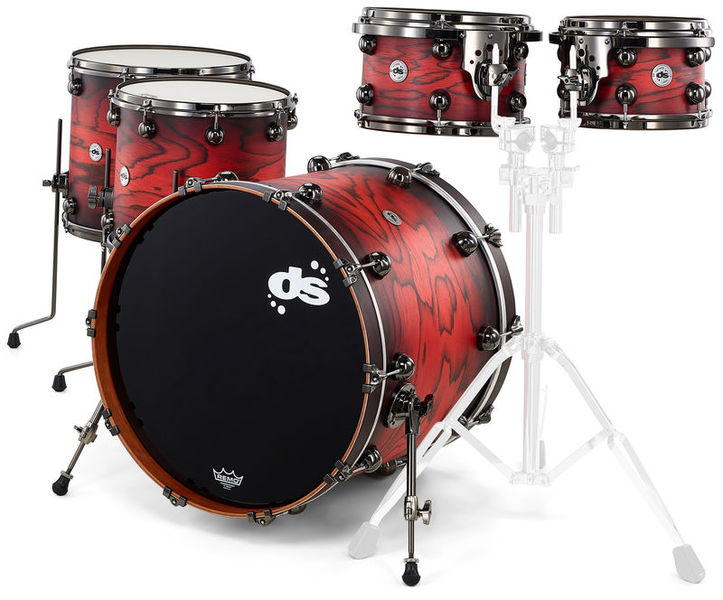 DS Drums Rebel All Maple Red Pine Burst