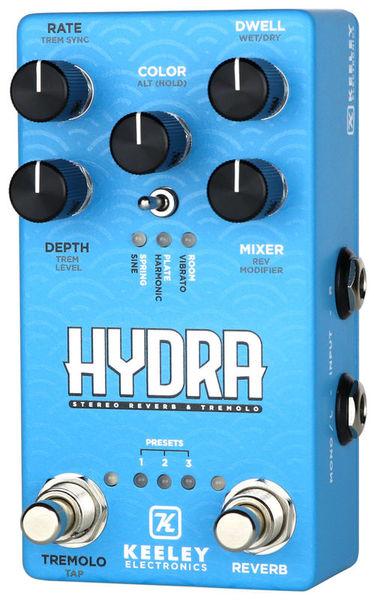 Hydra Stereo Reverb / Tremolo Keeley