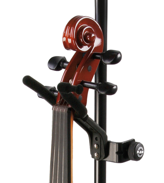 K&M 15580 Violin Holder BK