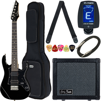Harley Benton RG-Junior BK JamPack Bundle