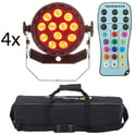 32. Fun Generation LED Pot 12x1W QCL RGB W Bundle