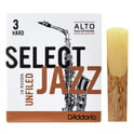 119. DAddario Woodwinds Select Jazz Unfiled Alto 3H