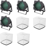 Stairville LED PAR 56 Black Floor Bundle